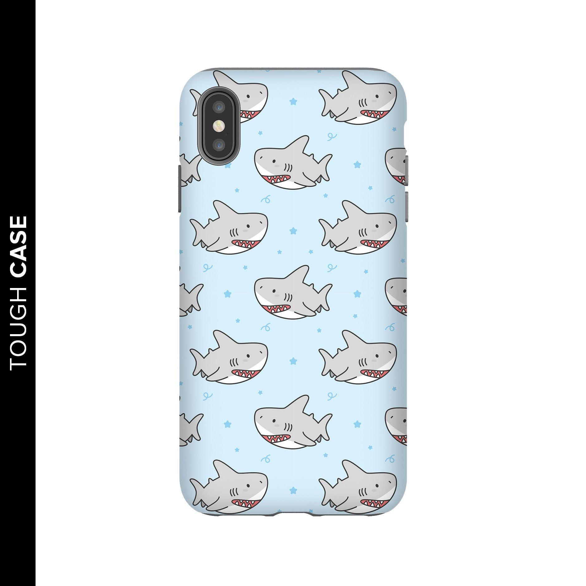 Cute Shark Phone Case, Shark Phone Case, iPhone X Case