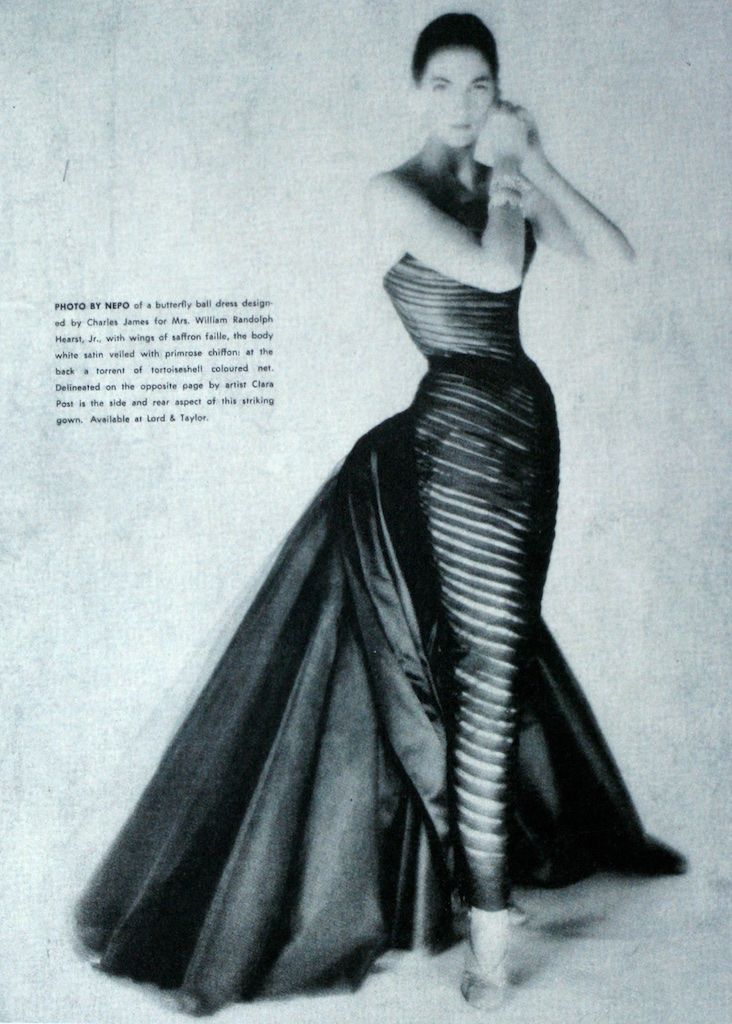 An Ad By Lord Taylor For Charles James Butterfly Gown Charles James Vintage Fashion Timeless Fashion