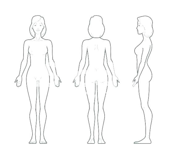 Body Outline Template Printable Human Free Sample Of A For
