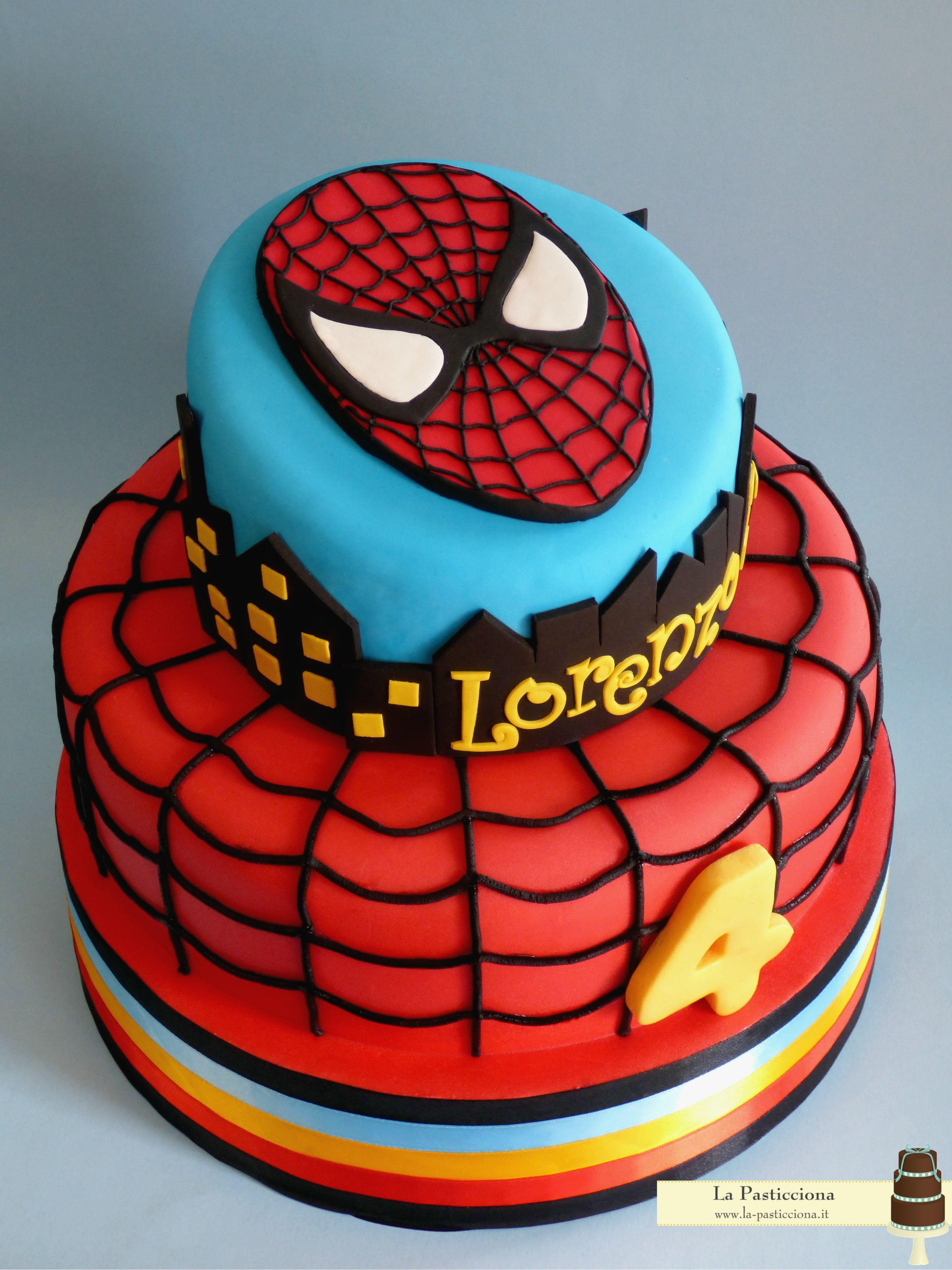 Torta Con Spiderman Tortas De Spiderman Tortas Tortas Superheroes