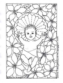Little jesus and me baby jesus christmas cards and for Catholic christmas coloring pages