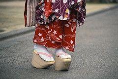 Japanese Okobo (maiko Geisha geta sandals)