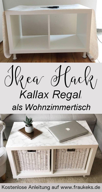 Photo of – IKEA HACK – Wohnzimmertisch aus Kallax Regal –