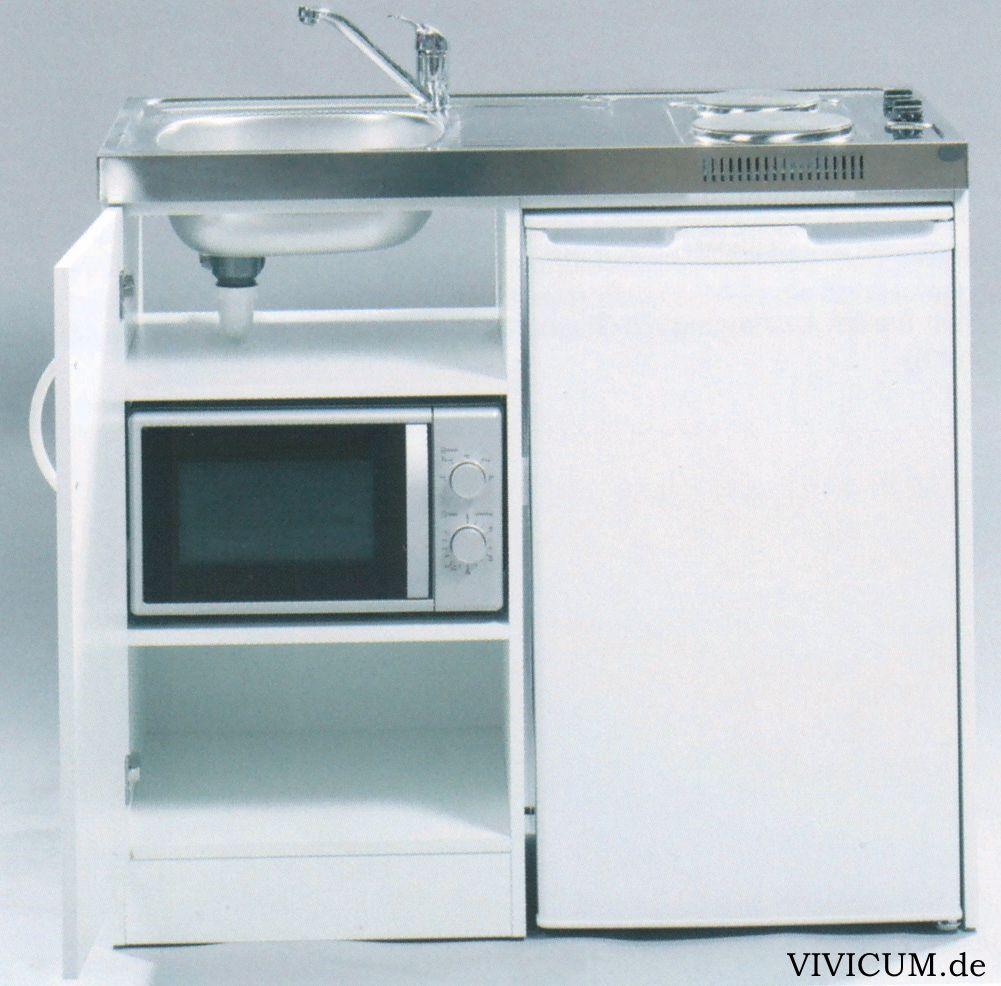Miniküche mit Kühlschrank und Mikrowelle, 100 cm breit