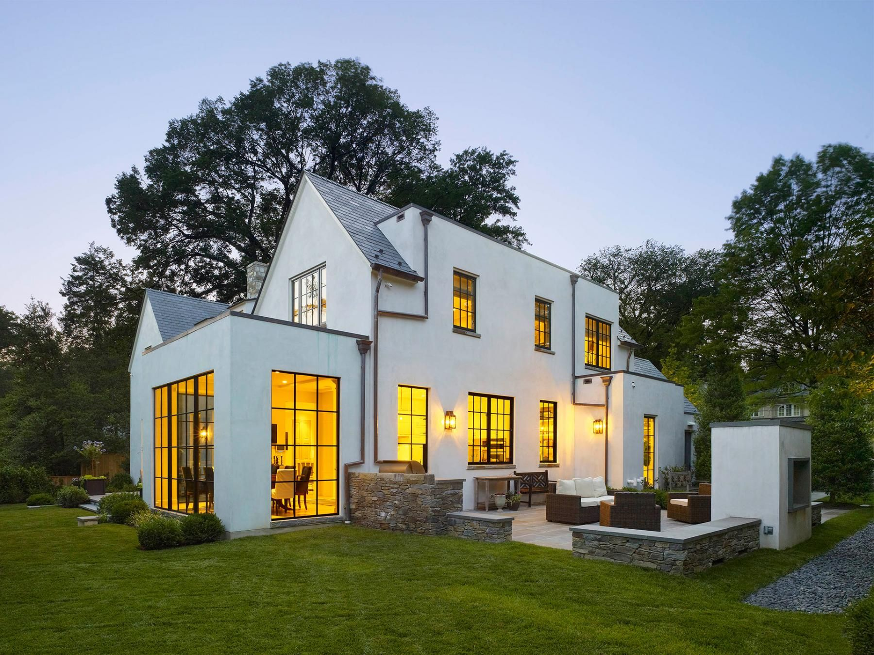 Anne Decker Architects | Selected Works | Featured Home | Edgemoor House ·  Classic WhiteModern ExteriorExterior DesignStucco ...