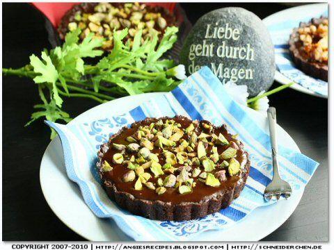 Angie's Recipes - Chocolate Glazed Tart with Pistachios