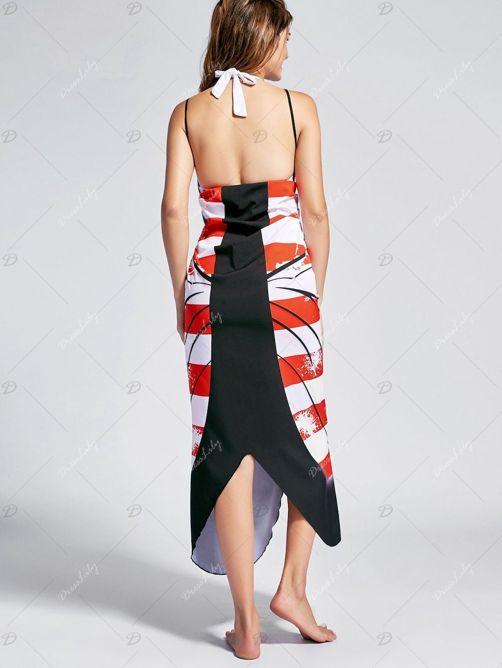 e3db173bfb Butterfly Print Beach Wrap Cover Up Dress - US FLAG XL | Мода ...