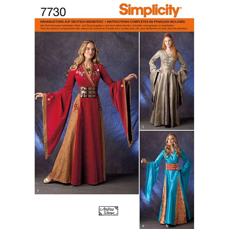 Schnittmuster Simplicity 7730 Kostüme Gr. HH 6-12... | GOT | Pinterest