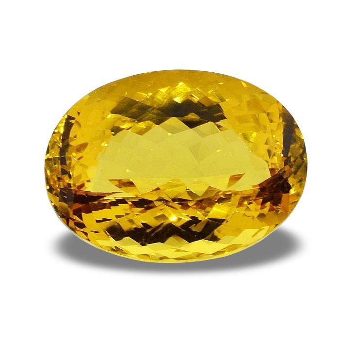 Äußerst attraktiver Goldberyll mit einen sehr freundlichen Gelbton, sehr hoher Reinheit und nahezu völlig einschlussfreier Transparenz.