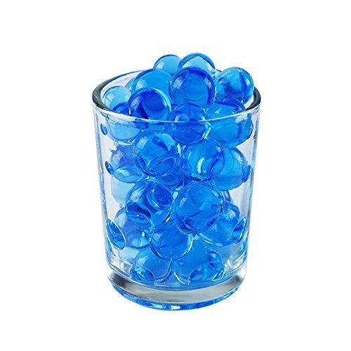 1 Pound Bag Of Blue Water Gel Beads Pearls For Vase Filler Candles Wedding Centerpiece Home Decoration Plants Toys Edu Gel Beads Vase Fillers Water Beads