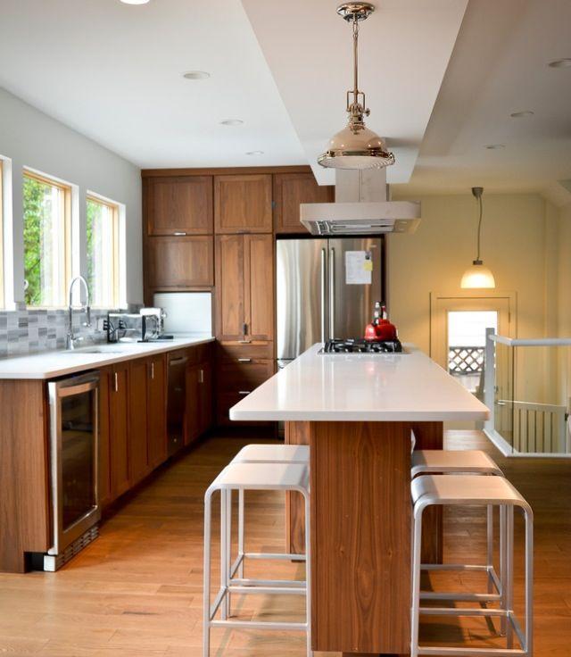Kitchen   Narrow kitchen island, Modern kitchen island ...