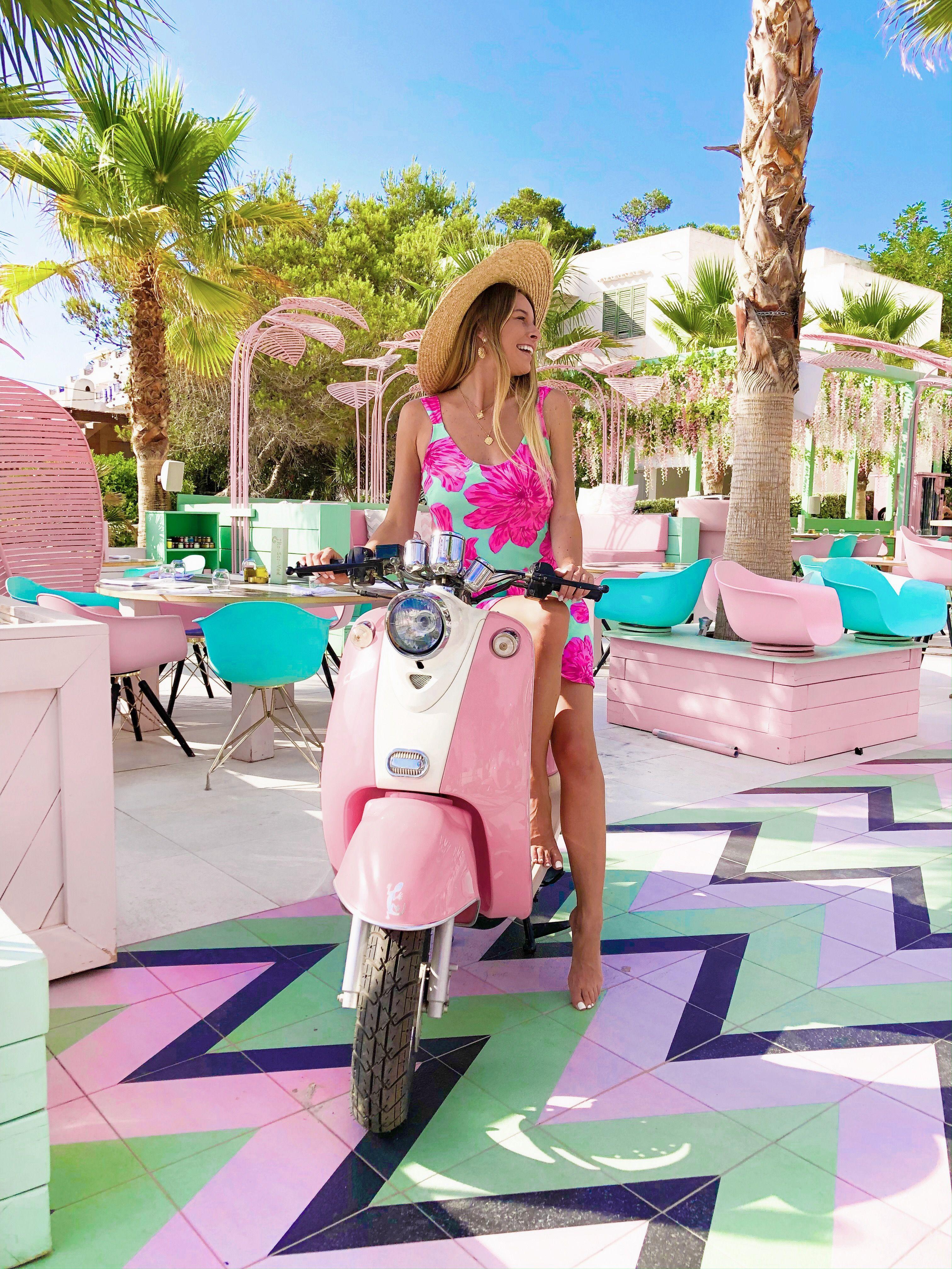 Wi Ki Woo Hotel Ibiza Theblondeflamingo Ibiza Fashion Hotel Ibiza Pink Vespa