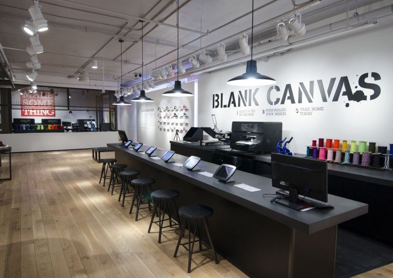 "Converse in-store ""Blank Canvas"" customisation shop - Design4Retail"