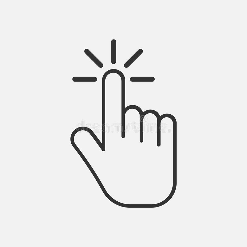 Click Icon Hand Icon Isolated On Background Vector Illustration Eps 10 Ad Hand Isolated Click Icon Backgro Hands Icon Vector Illustration Icon