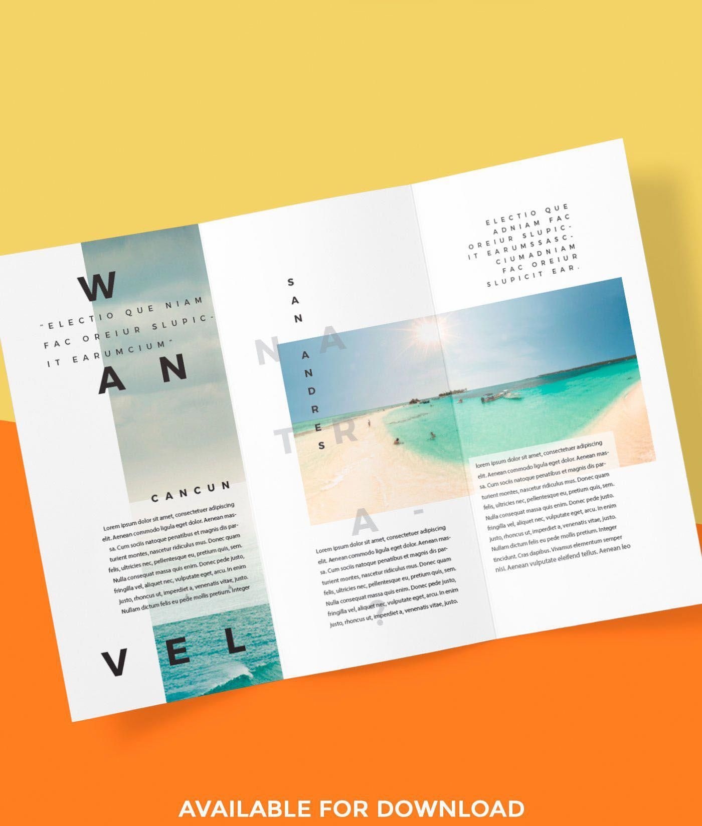 Tri Fold Brochure On Behance Travelguidelayout Travel Brochure Design Trifold Brochure Design Trifold Brochure Tri fold travel brochure template