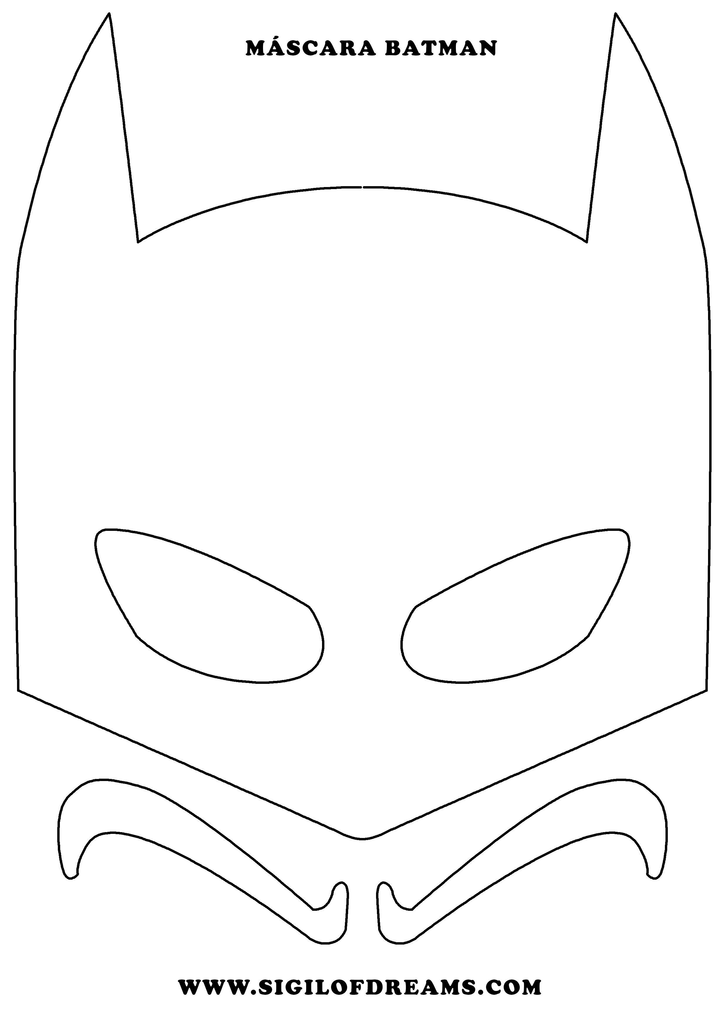 Máscara Batman para imprimir. #Mask #máscara #Batman #superheroe ...