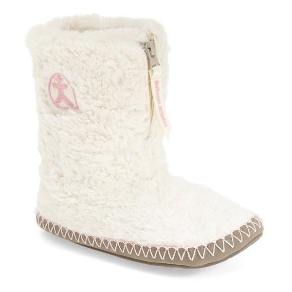 Bedroom Athletics 'Monroe' Slipper Boot ($40) ❤ liked on Polyvore featuring shoes and slippers