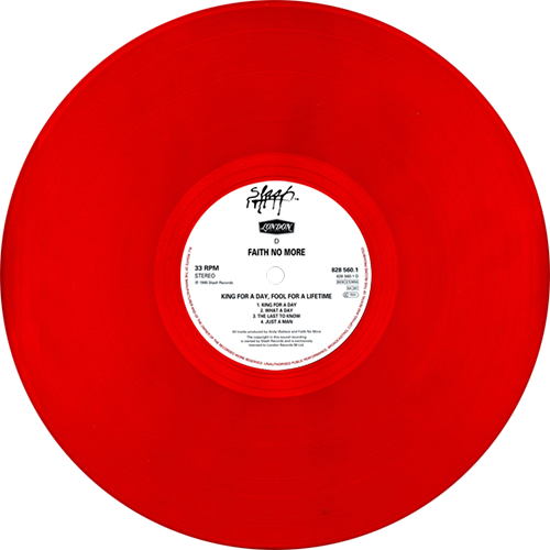 Faith No More King For A Day Fool For A Lifetime The Fool Vinyl Graphics Faith