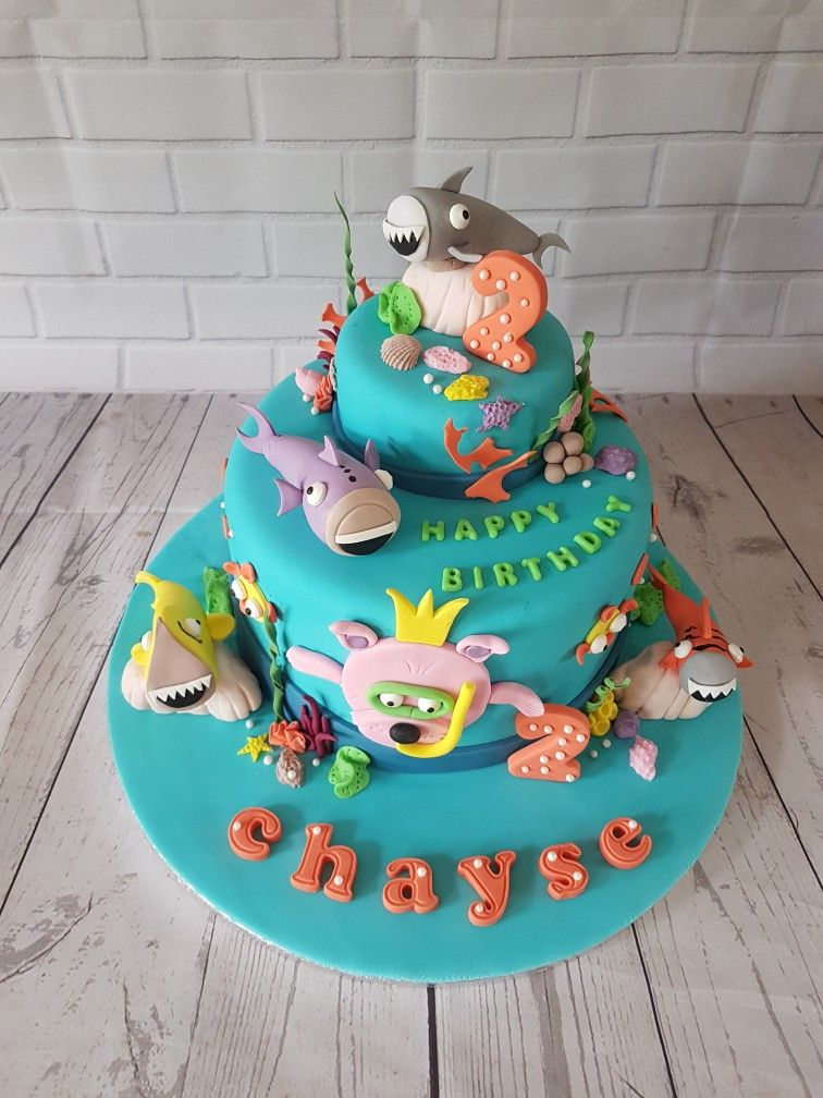 Baby shark under the sea theme cake by the business of