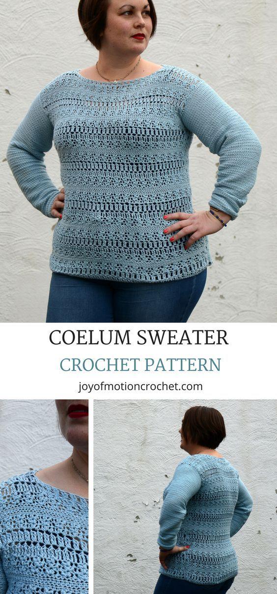 ee328aad4 Coelum Sweater - Easy Crochet Pattern Design
