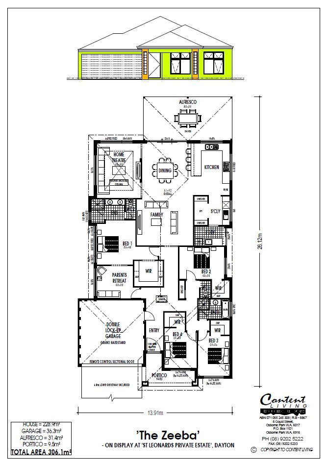amazing house plans for wide blocks. Rear Living home with huge master bedroom for 15m wide Blocks  11m of Kitchen and