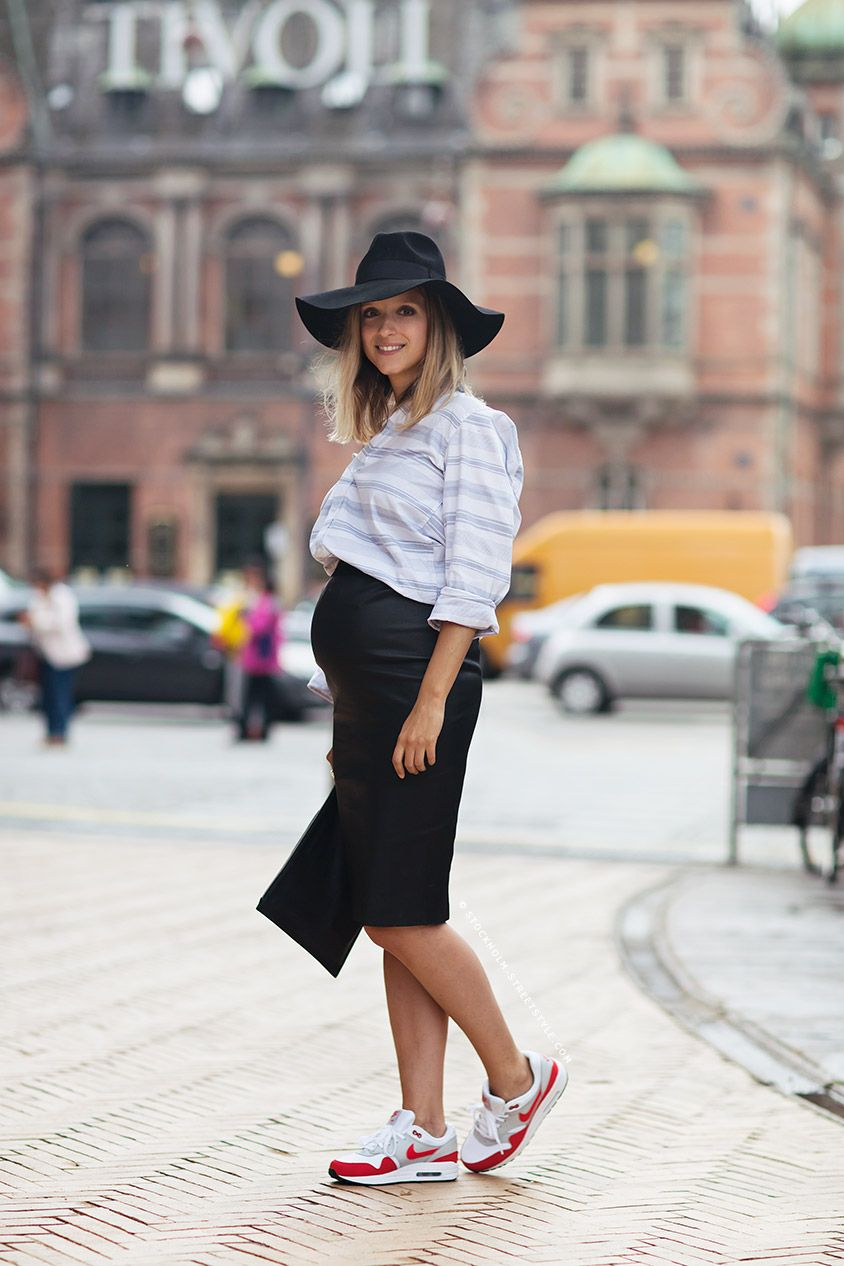8079b9abee03 white shirt, black pencil skirt+hat, and running shoes // @dressmeSue pins  real outfits