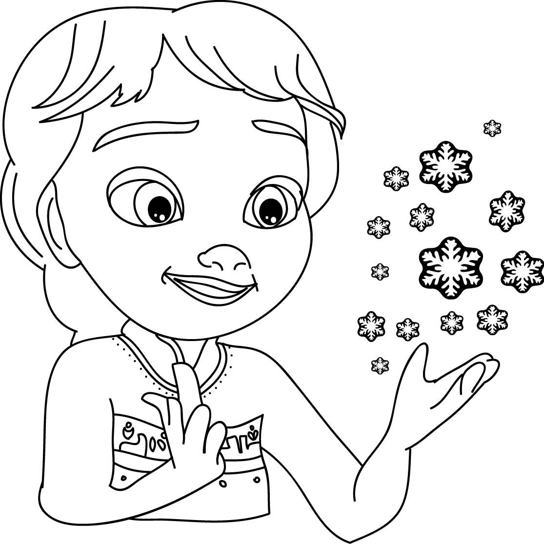 nice Elsa Magical Coloring Page | wecoloringpage | Pinterest