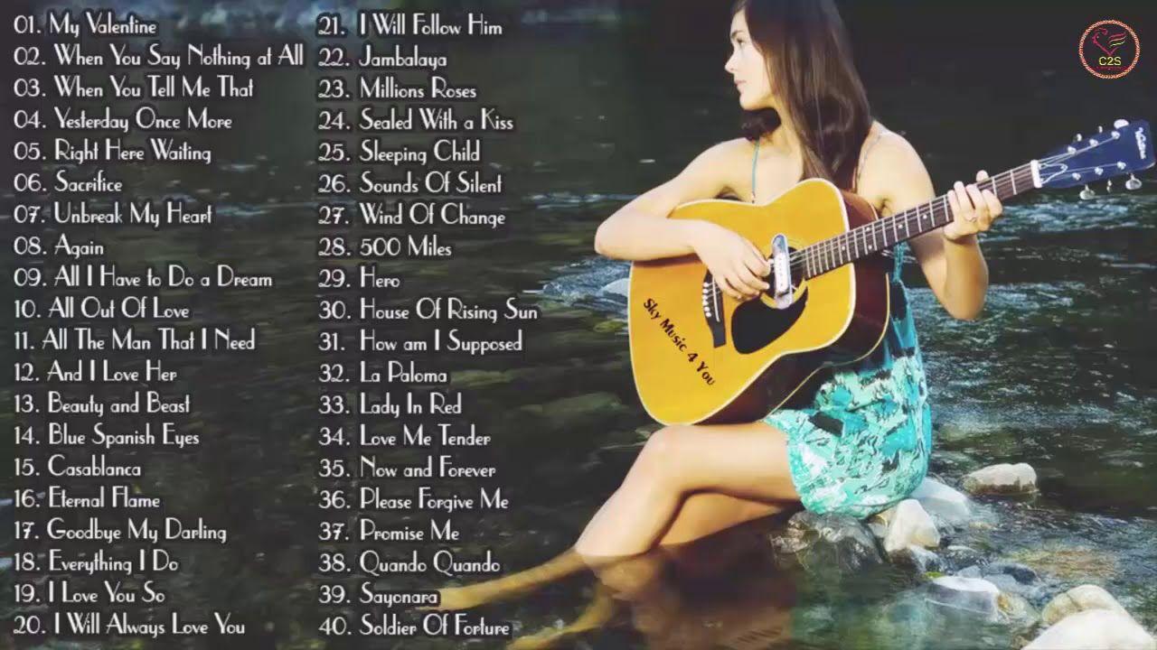 Top 50 Guitar Love Songs Instrumental Soft Relaxing Romantic Guitar Music Convert Youtube Video To Mp3 For Free Youtube Mp3 Convert Love Songs Music Songs