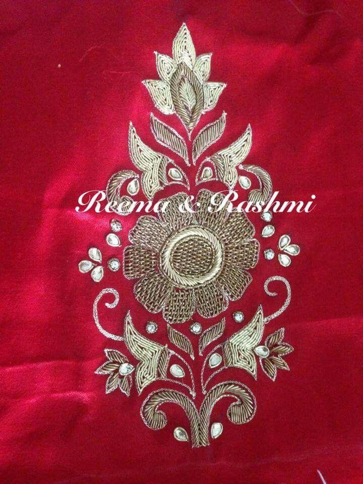 Pin de Sheetal v en zardosi motifs   Pinterest   Bordado, Ranas y ...