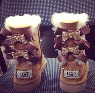 58ca45fb09d shoes ugg boots boots uggs boots bailey bow brown bailey bow bows ...