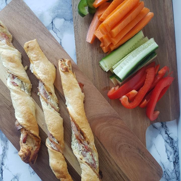 Butterdejsstænger - lækre bacontwisters som snack, aftensmad eller tapas