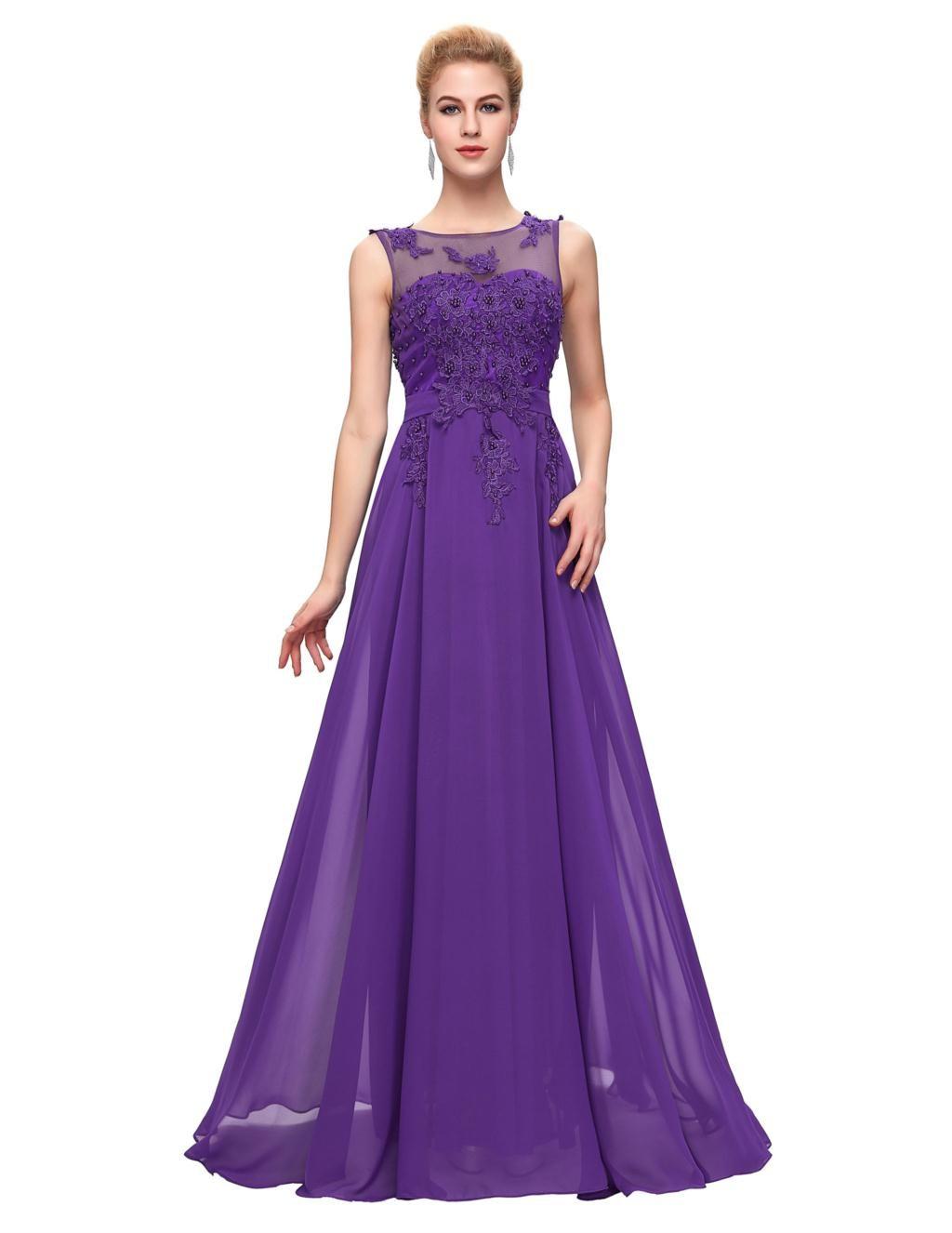 Elegant Floor Length Chiffon Evening Dress | Madre del novio ...