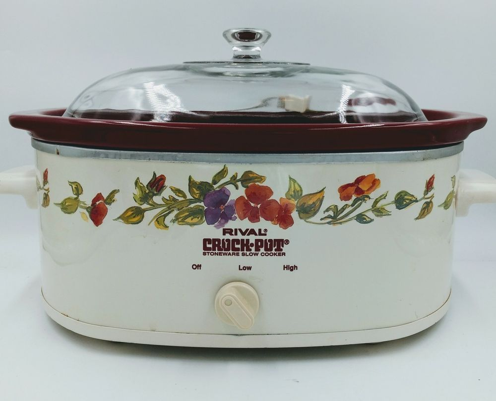 Rival 6 Qt Family Size Removable Stoneware Crock Pot With