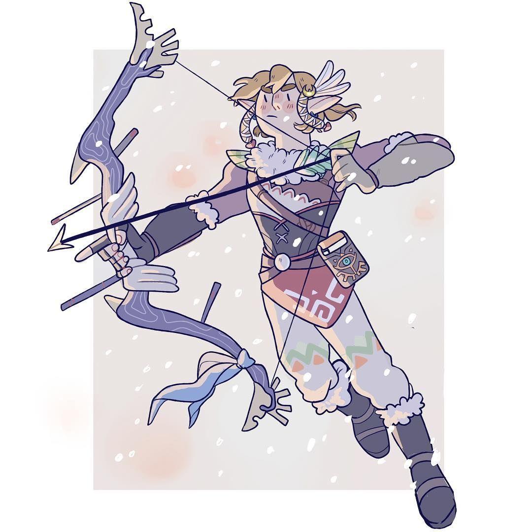 Legend Of Zelda Breath Of The Wild Art Rito Link Snowquill Set Legend Of Zelda Memes Zelda Art Legend Of Zelda Breath