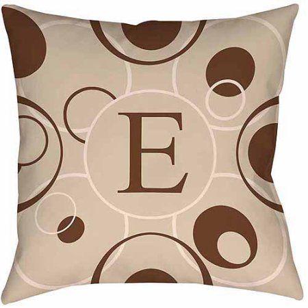 Thumbprintz Circle Variations Monogram Neutral Decorative Pillows, Beige