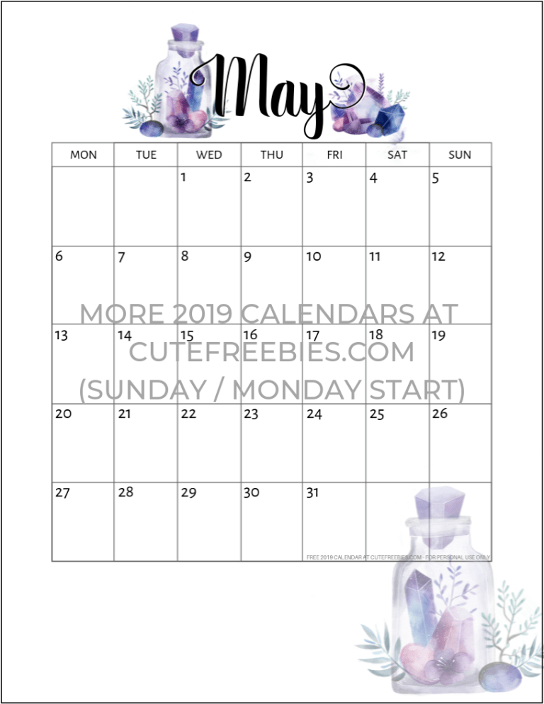 Free Printable 2020 2021 Calendar Pdf Crystal Gems Cute Freebies For You Free Printable Monthly Planner Editorial Calendar Template Calendar 2019 Printable