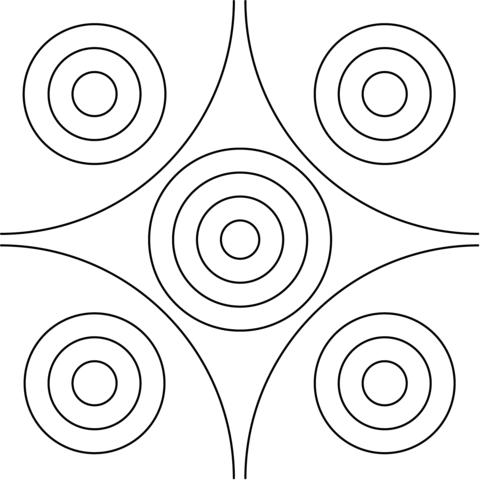 Diseño con Círculos Dibujo para colorear | Flores | Pinterest ...