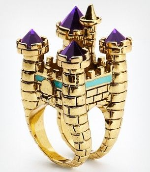 Disney Couture Oversized Castle Cocktail Ring by hannahmnt
