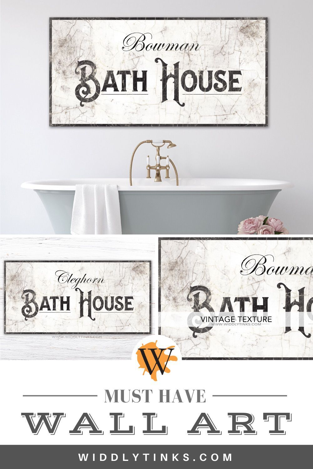 French Country Bath House Sign French Country Wall Art Country Baths Country Wall Decor