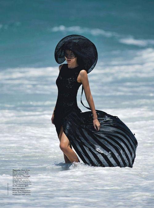 Edita Vilkeviciute by Gilles Bensimon for Vogue Australia June 2014