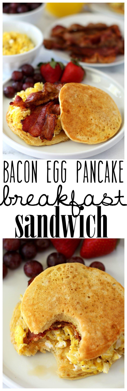 Bacon Pancake Sandwiches - Nom Nom Paleo®  |Bacon Pancakes Sandwich
