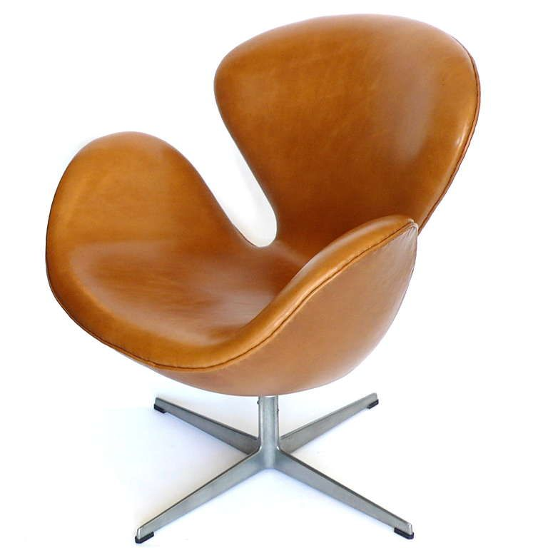 Pin By Ryan Pedersen On Furniture Ad: Rare Early Leather Adjustable Swan Chair By Arne