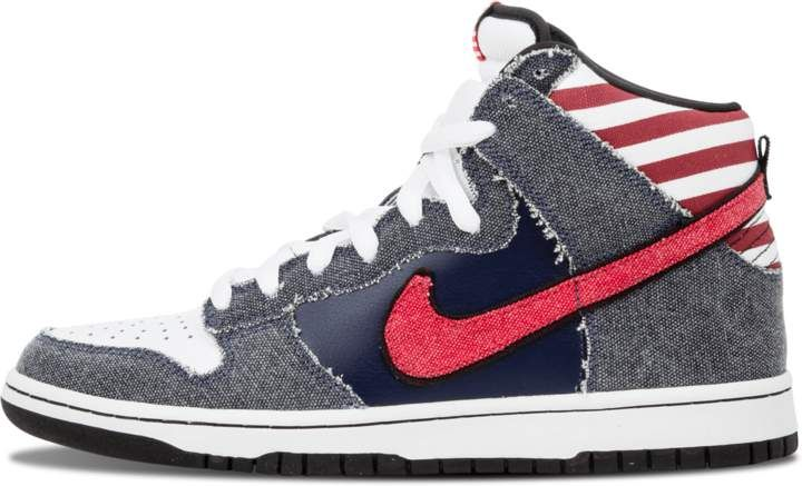 pretty nice aced3 0373c Nike Dunk High Premium SB  Born in The USA  - White Sport Red