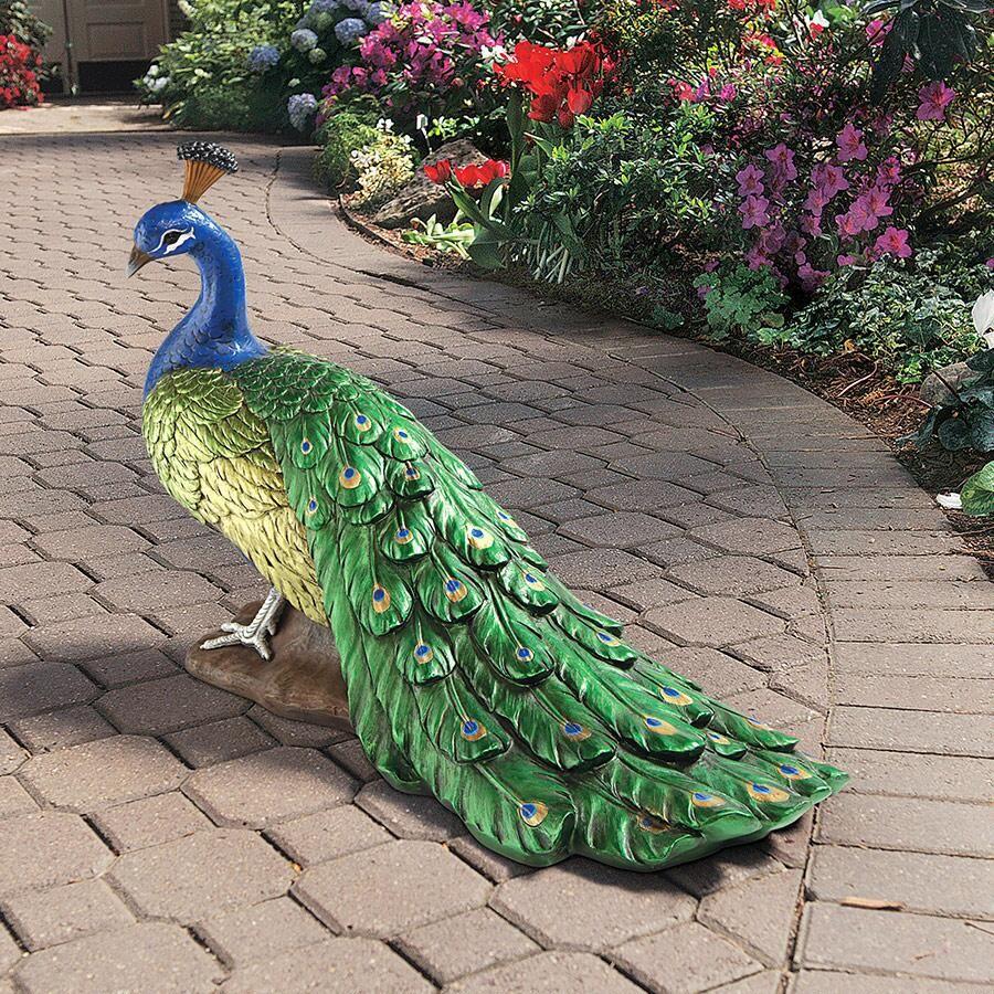 Amazing The Regal Peacock Garden Sculpture Bird Statues   Aff Link