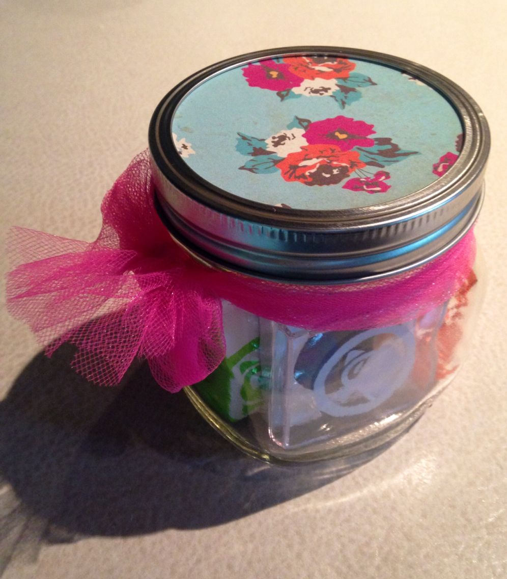 Retro jar with a sparkle look inside gift packaging ideas