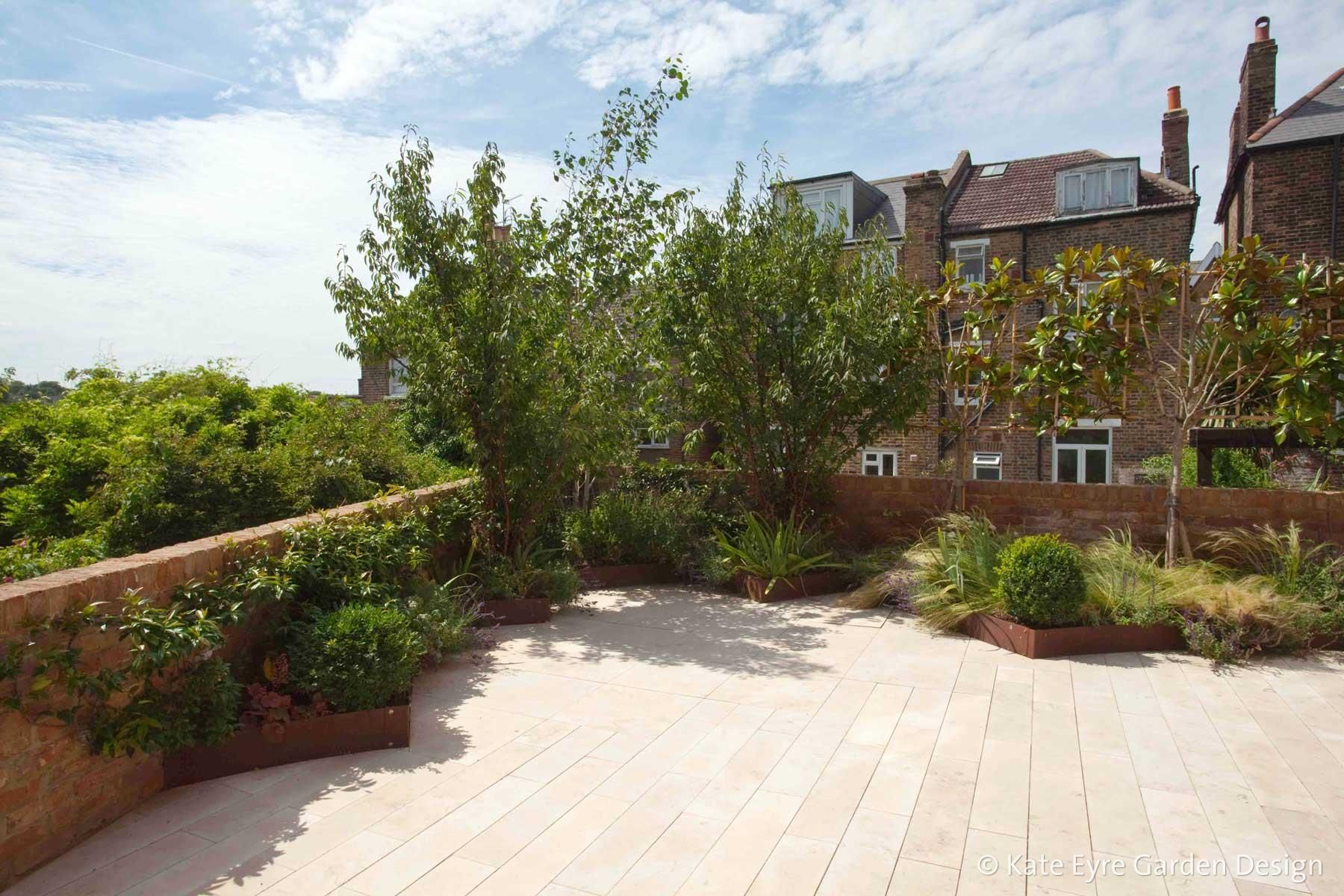 Patio In Garden Design In Crystal Palace London Garden Design Garden Features Patio Garden