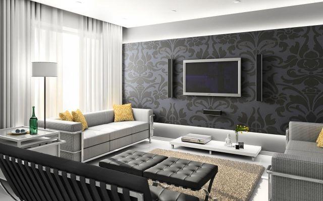 Great graue T ne mit etwas Farbe schaffen stilvolle und pers nliche Atmosph re Heimkino Home cinema Pinterest Geschafft Fernseher und Grau