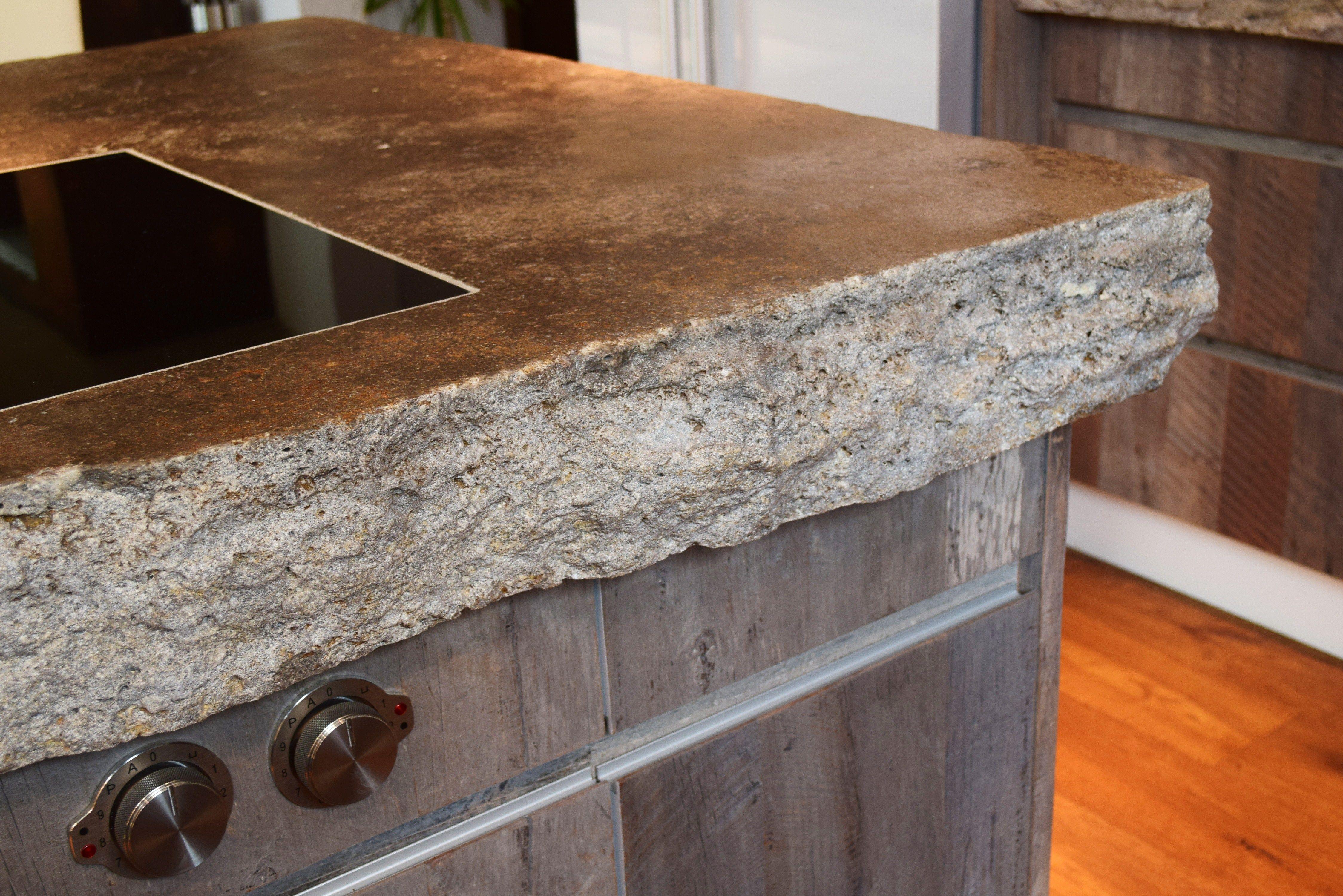 35 Kreative Steinarbeitsplatten | Küchen Ideen