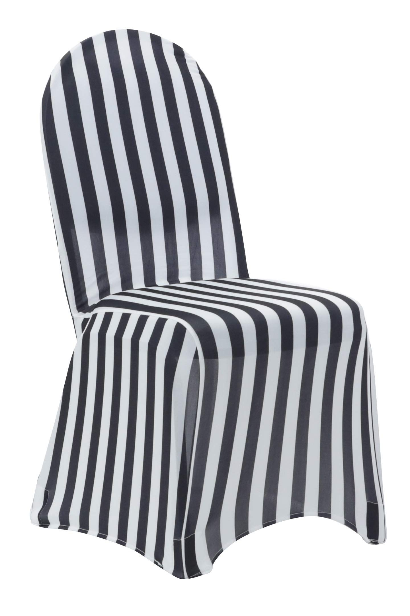 Your Chair Covers 6 Pack Stretch Spandex Chair Covers Striped Black And White Wedding Slip Covers Premium Quality Chair Cover Spandex Chair Covers Chair Covers Slipper Chair Slipcover