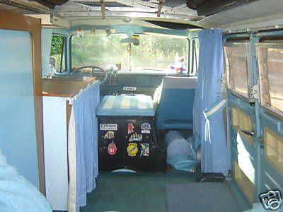 1968 Dodge A100 Camper van, interior view | Wheels - 1960 ...